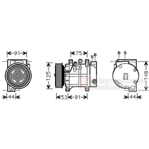 VAN WEZEL Kompressor, Klimaanlage 1300K259 / NISSAN 92600
